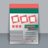 Flyer template, business brochure for design Royalty Free Stock Photography