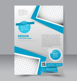 Flyer template. Business brochure. Editable A4 poster Stock Photos