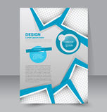 Flyer template. Business brochure. Editable A4 poster Stock Images