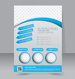 Flyer template. Business brochure. Editable A4 poster Stock Photography