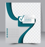 Flyer template. Business brochure. Editable A4 poster for design Stock Image