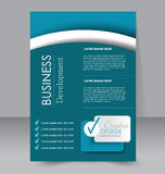 Flyer template. Business brochure. Editable A4 poster for design Royalty Free Stock Photography