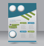 Flyer template. Business brochure. Editable A4 poster. For design, education, presentation, website, magazine cover. Blue and green color Stock Photos