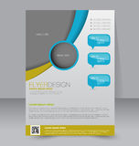 Flyer template. Business brochure. Editable A4 poster Stock Photo
