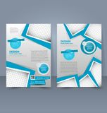 Flyer template. Business brochure. Editable A4 poster for design education presentation website magazine cover. Royalty Free Stock Image