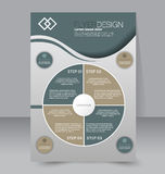 Flyer template. Business brochure. Editable A4 poster. For design, education, presentation, website, magazine cover. Green and brown color Royalty Free Stock Photos