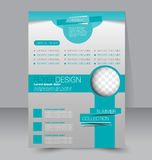Flyer template. Business brochure. Editable A4 poster. For design, education, presentation, website, magazine cover. Green color Royalty Free Stock Images