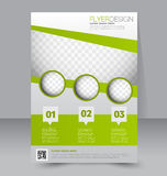 Flyer template. Business brochure. Editable A4 poster Royalty Free Stock Photos