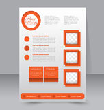 Flyer template. Business brochure. Editable A4 poster Royalty Free Stock Image