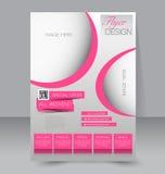 Flyer template. Business brochure. Editable A4 poster Stock Photos