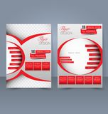 Flyer template. Business brochure. Editable A4 poster for design Stock Photography