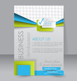 Flyer template. Business brochure. Editable A4 poster for design Stock Images