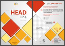 Flyer Template with Colored Squares. In Diagonal Direction on Silver Background with 3D Effects - Illustration, Vector vector illustration