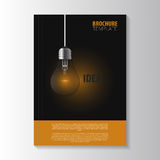 Flyer template. Cover Magazine. Brochure template. Bulb Royalty Free Stock Photo