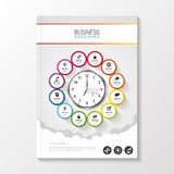 Flyer template. Cover Magazine. Brochure template. Business infographic. Vector illustration Royalty Free Stock Photography
