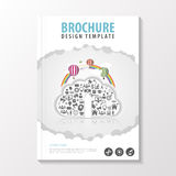 Flyer template. Cover Magazine. Brochure template. Business infographic. Vector illustration Royalty Free Stock Photos