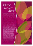 Flyer template design Royalty Free Stock Photos