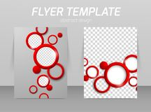 Flyer template design Royalty Free Stock Photo