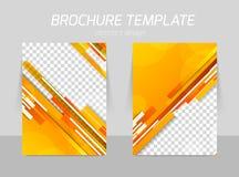 Flyer template design stock illustration