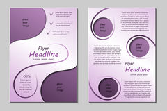 Flyer template design  Royalty Free Stock Images