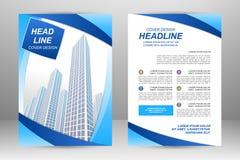 Flyer template design Stock Photo