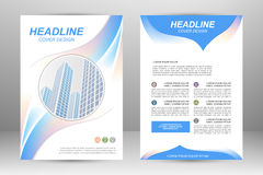 Flyer template design Royalty Free Stock Image