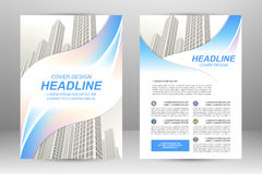 Flyer template design Stock Images