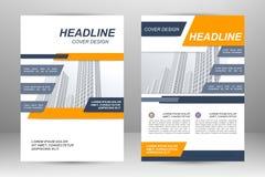 Flyer template design Stock Image