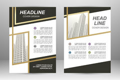 Flyer template design Stock Photography
