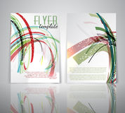 Flyer template. Double sided flyer template with abstract design Royalty Free Stock Photos