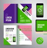 Flyer template Stock Images