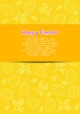 Flyer template for Easter Stock Photography