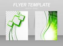 Flyer template vector illustration