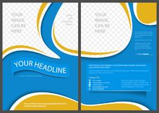 Flyer Template in Elegant Abstract Style Stock Photos