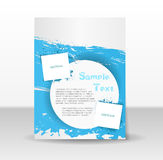 Flyer template with grunge elements Stock Photo