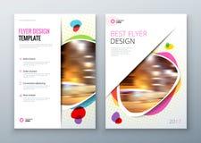 Flyer template layout design. Business flyer, brochure, magazine or flier mockup in bright colors. Vector.  vector illustration