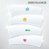 Flyer-template-layout-insurance-services1 Photographie stock libre de droits