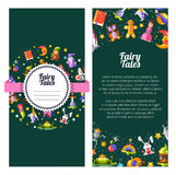 Flyer template of modern fairy tales flat design Royalty Free Stock Photography