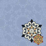 Flyer template. Oriental designed flayer motif Stock Photos