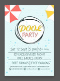 Flyer or template for Pool Party celebration. Stock Photos