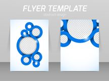 Flyer template Royalty Free Stock Images