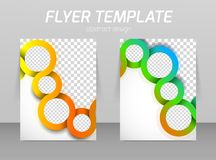 Flyer template Royalty Free Stock Photography