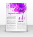 Flyer template with splash design Stock Image