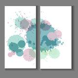 Flyer template with splashes and spots of paint Royalty Free Stock Photography
