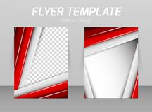 Flyer template royalty free illustration