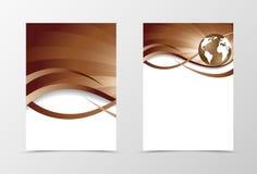 Flyer template vortex design Royalty Free Stock Image