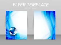 Flyer template Royalty Free Stock Photos
