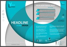 Flyer Template With Circles And 3D Shadows Stock Image