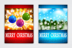 Flyer Templates with Holiday Backgrounds. Stock Photo