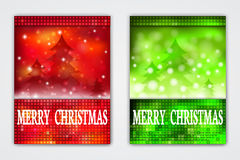 Flyer Templates with Holiday Backgrounds. Royalty Free Stock Image
